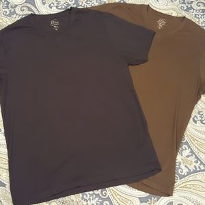 J Crew V neck tee shirts - 2 shirt bundle